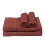 Aransa Brown Cotton 4-piece Towel Set