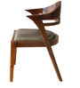 Arc Upholstered Chair in Warm Rich Finish by Inliving