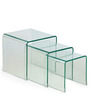 Arch Tea Nest Table Set of 3 in Transparent Finish by HomeHQ
