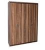 Archer Four Door Wardrobe in Brown Colour by HomeTown