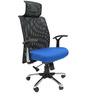 Argentina High Back Office Executive Chair in Dark Blue Colour by Chromecraft