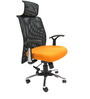 Argentina High Back Office Executive Chair in Orange Colour by Chromecraft