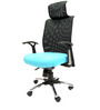 Argentina High Back Office Executive Chair in Sky Blue Colour by Chromecraft