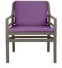Aria Single Seater Sofa in Tortora Finish by Nardi