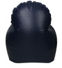 Arm Chair XXXL Bean Bag Cover without Beans in Navy Blue Colour by Sattva