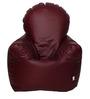 Arm Chair XXXL Bean Bag with Beans in Maroon Colour by Sattva