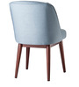 Armless Modern Styled Chair with Slanted Legs