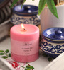 Aroma India Rose Scented Colour Pillar Candle