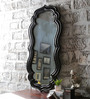 Art Creation Black Solid Wood Decorative Mirror