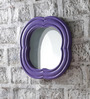Art Creation Blue Solid Wood Decorative Mirror