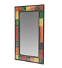 Art Creation Multicolour MDF Painted Mirror with Frame