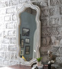 Art Creation White Solid Wood Decorative Mirror