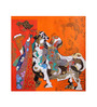 untitled, by Ravindra Salve. Serigraph on Paper, 39 X 39 Inch
