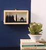 Art Ka Keeda Black Pine Wood Wally Rectangle Silhouette Framed Wall Art