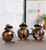 Art of Jodhpur Brown Metal Figurines - Set of 3
