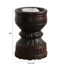 Art of Jodhpur Brown Solidwood  Candle Holder