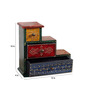Art of Jodhpur Multicolor Solidwood  Handpainted  Collectible with 3 drawers