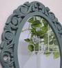 Art Street Blue MDF Rosette Decorative Wall Mirror