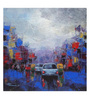 Art Zolo Canvas 18 x 18 Inch Strom in City Unframed Artwork Painting