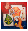 Art Zolo Canvas 24 x 24 Inch Poker Face Unframed Artwork Painting