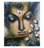 Art Zolo Canvas 24 x 30 Inch Krishna Playing Flute I Unframed Artwork Painting