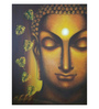 Art Zolo Canvas 30 x 40 Inch Buddham Sharanam Unframed Artwork Painting