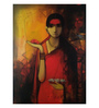 Art Zolo Canvas 36 x 48 Inch Indian Woman Unframed Artwork Painting