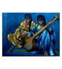 Art Zolo Canvas 47 x 37 Inch Saheli Playing Music Unframed Artwork Painting