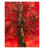 Art Zolo Paper 22 x 30 Inch The Red Tree Unframed Artwork Painting