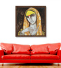 ArtCollective Canvas 18 x 18 Inch Face with Icon IV Framed Limited Edition Digital Art Print by Devashish Das