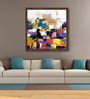 ArtCollective Canvas 21 x 21 Inch City Nights Framed Limited Edition Digital Art Print by Prabhinder Lall