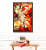 ArtCollective Canvas 27 x 37 Inch All Flared Up Framed Limited Edition Digital Art Print by Parbbonni Bhowmik