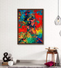 ArtCollective Canvas 27 x 37 Inch Audacious Strokes Framed Limited Edition Digital Art Print by Parbbonni Bhowmik