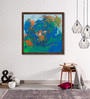 ArtCollective Canvas 30 x 30 Inch Whirlpool Framed Limited Edition Digital Art Print by Avtar Singh