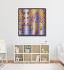 ArtCollective Canvas 32 x 32 Inch Color Riot Framed Limited Edition Digital Art Print by Kirthi Parvataneni