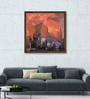ArtCollective Canvas 36 x 36 Inch Structures Framed Limited Edition Digital Art Print by Somenath Maity
