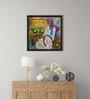 ArtCollective Village Vendor Canvas 12 x 12 Inch Framed Art Print
