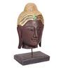 Artelier Wooden Black Buddha Face on Stand Statue