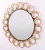 Artelier Gold Acrylic Round Chain Mirror Frame