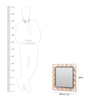 Artelier Gold Acrylic Square Chain Design Mirror Frame