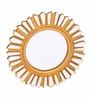 Artelier White Wood Round Decorative Mirror
