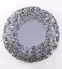 Artelier Silver Metal and Glass Spring Flower Mirror Large