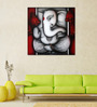 Artflute Canvas Eternal Ganesha Framed Art Print