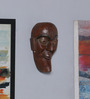 Artisans Rose Brown Solidwood Face Vintage Mask