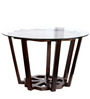 Colby End table in Provincial Teak Finish with Glass top by Woodsworth