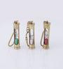 Artshai Brown Brass Hourglass Key Chain - Set of 3