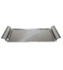 Arttdinox Stainless Steel Rectangular Tray with Steel Handle