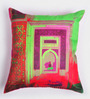 ARTychoke Multicolor Silk 16 x 16 Inch Alcove Cushion Cover