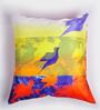 ARTychoke Multicolor Silk 16 x 16 Inch Bird Cushion Cover