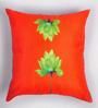 ARTychoke Orange Silk 16 x 16 Inch Waterlily Cushion Cover